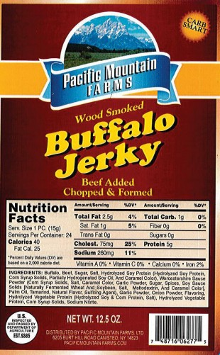 BUFJK-12 Buffalo Jerky