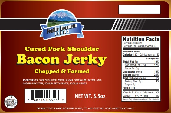 PBAC-3.5 Bacon Jerky 3.5 oz Label